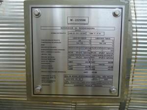 PLACA DE IDENTIFICAÇÃO CONFORME NR-13