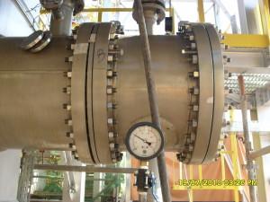 manometro instalado no trocador de calor