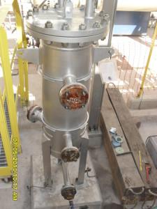 vaso de pressão instalado